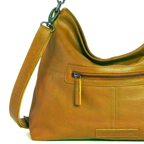 Sticks and Stones Ledertasche Paris Honey Yellow Washed