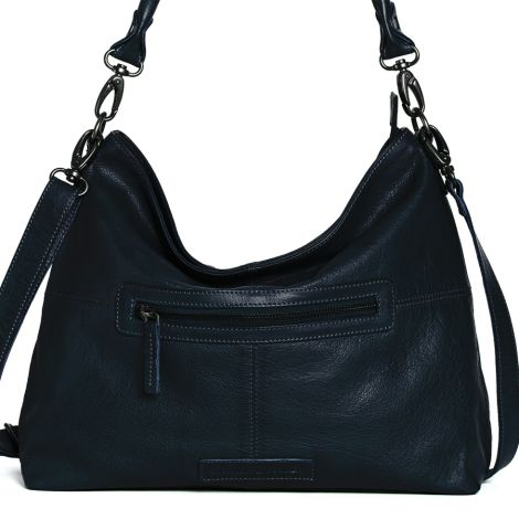 Sticks and Stones Ledertasche Paris Marine Blue Washed •