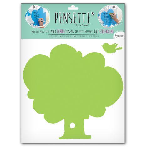 Pensette® by le Prédeau Wandtattoo Baum hellgrün, beschreibbar •