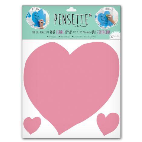 Pensette® by le Prédeau Wandtattoo Herz rosa, beschreibbar •