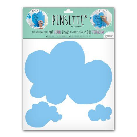 Pensette® by le Prédeau Wandtattoo Wolke himmelblau, beschreibbar •