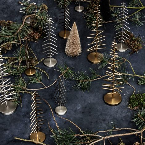 House Doctor Deko-Weihnachtsbaum Silver Optik