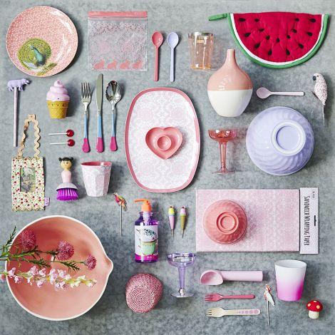 Rice Ovale Keramikschüssel Two Tone Off White/Pink