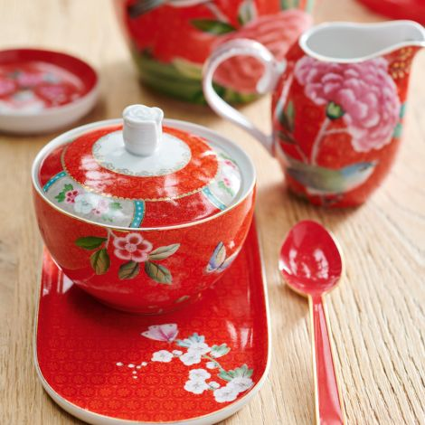 PIP Studio Zuckerdose Blushing Birds Red