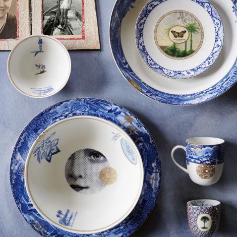 PIP Studio Teller Heritage Butterfly Blue 15cm