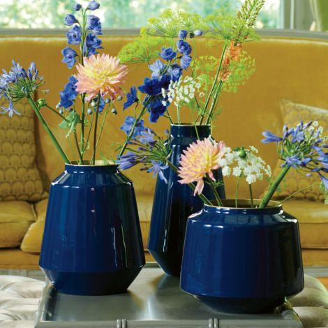 PIP Studio Vase Metall Blue 36cm