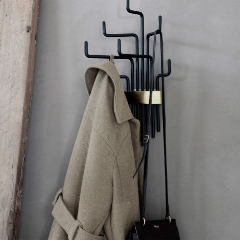 House Doctor Garderobe Pipes Schwarz