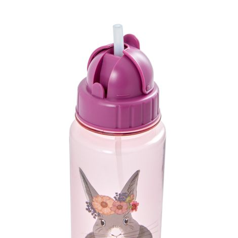 Rice Trinkflasche Kids Farm Animal Pink 500 ml