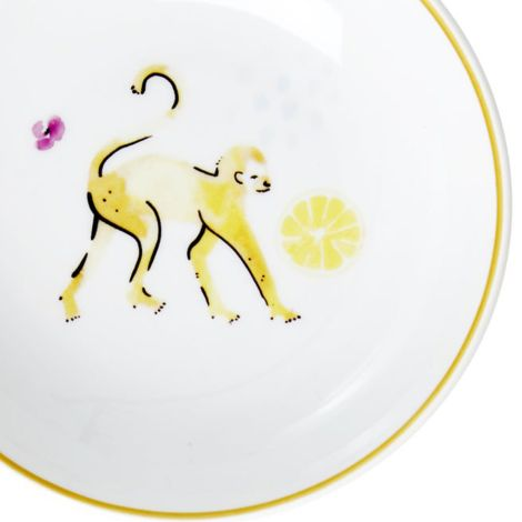 Rice Porzellan Dip-Schüssel Monkey •