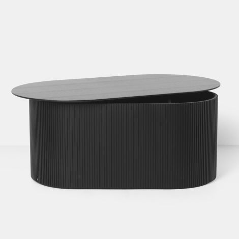 ferm LIVING Tisch Podia Oval Black