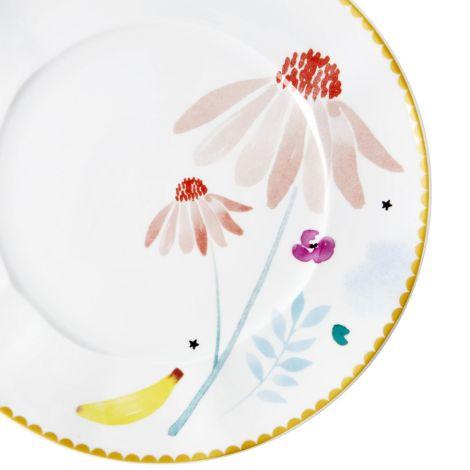 Rice Porzellan Teller Pink Chamomile •