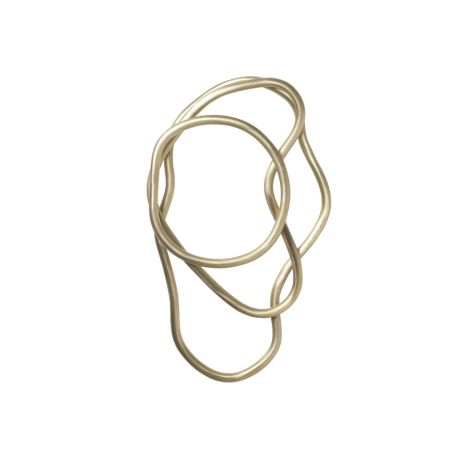 ferm LIVING Untersetzer Pond Brass 3er-Set •