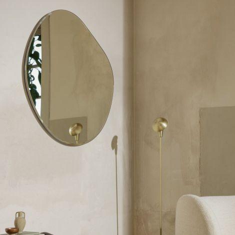ferm LIVING Spiegel Pond Mirror XL Dark chrome