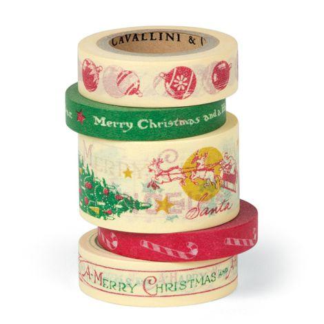 Cavallini Paper Tape Vintage Christmas •