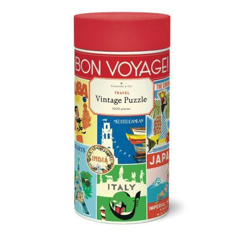 Cavallini Puzzle Vintage Travel 1000-teilig