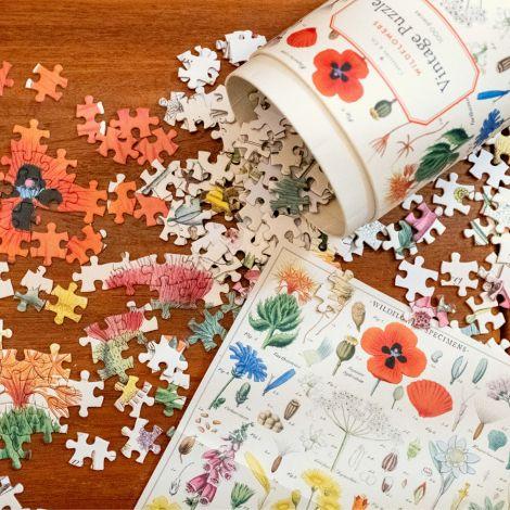 Cavallini Puzzle Wildflowers 1000-teilig