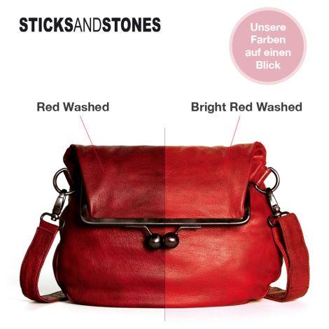 Sticks and Stones Ledertasche Brasilia Red Washed •