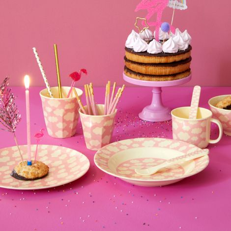 Rice Baby Melamin-Tasse Cloud Pink