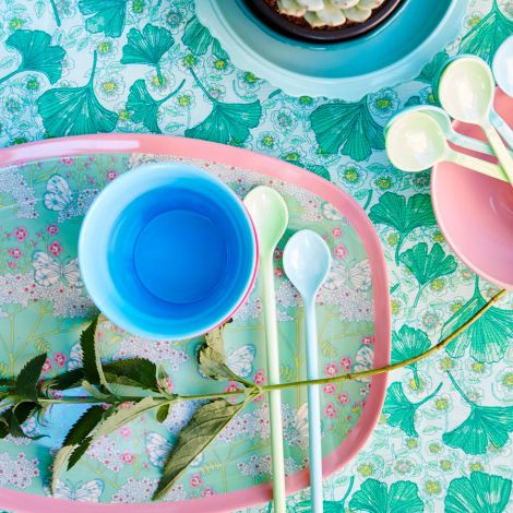 Rice Melamin Latte-Löffel lang Blue/Green 6er-Set