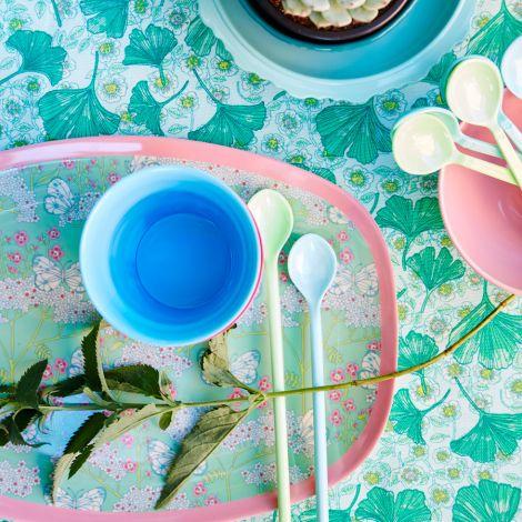 Rice Melamin Latte-Löffel lang Pink/Orange 6er-Set