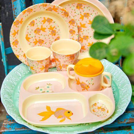 Rice Melamin Kinderteller Goldfish