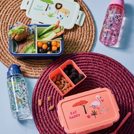 Rice Lunchbox Brotdose mit 3 separaten Dosen Blue Jungle