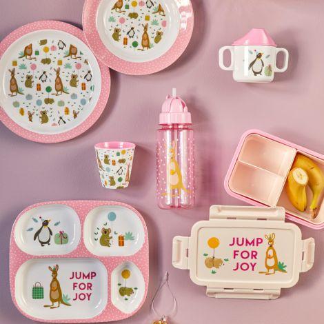 Rice Melamin Kinderteller Party Animal Pink