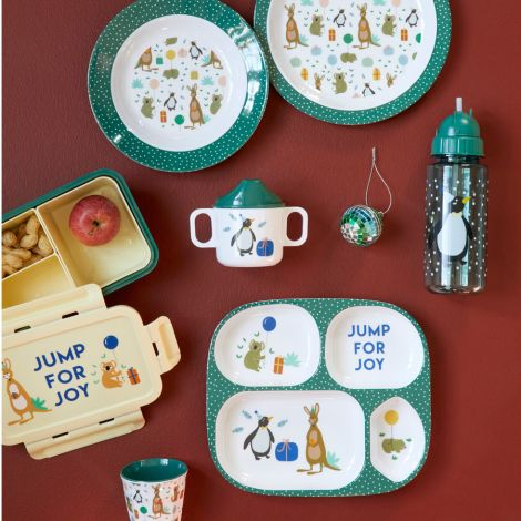 Rice Melamin Kinderbecher Party Animal Green Small