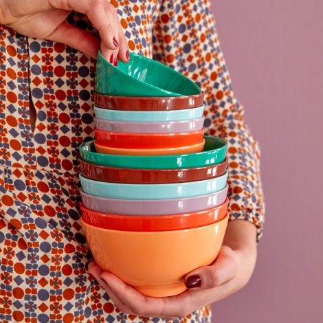 Rice Melamin Schüssel Klein Follow The Call of The Disco Ball Colors 6er-Set
