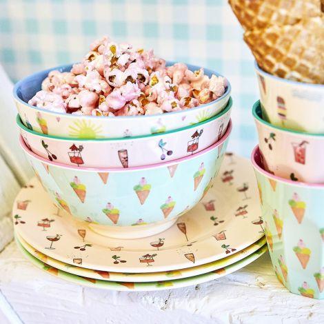 Rice Melamin Teller Ice Cream