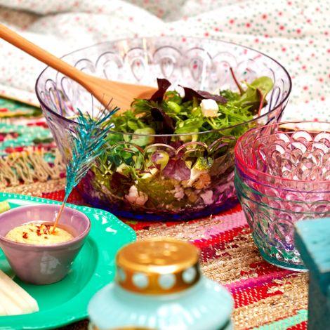 Rice Salatschüssel Acryl Pastel Green