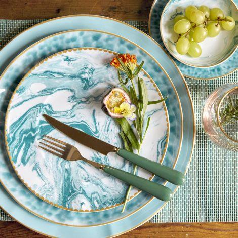Rice Porzellan Speiseteller Glaze Jade