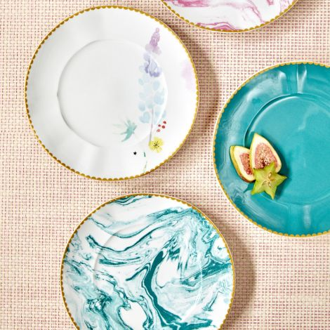Rice Porzellan Speiseteller Marble Jade •