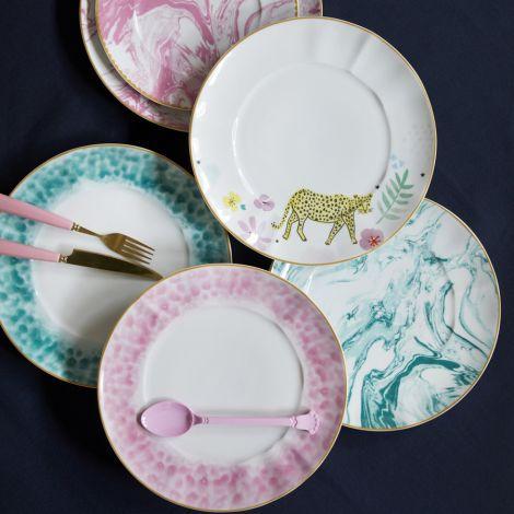 Rice Porzellan Teller Glaze Jade