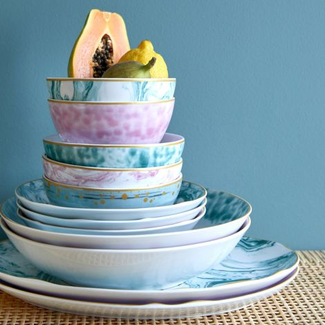 Rice Porzellan Pasta-Teller Glaze Jade