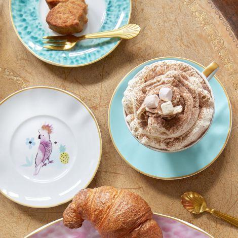 Rice Porzellan Dessert-Teller Kakadu