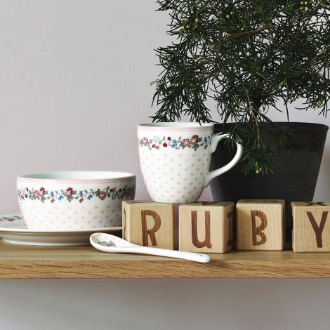 GreenGate Tasse für Kinder Ruby Petit White