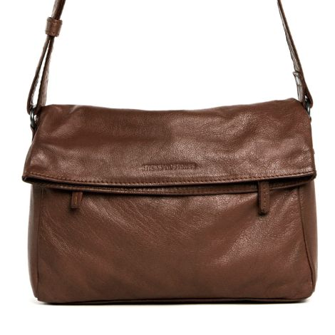 Sticks and Stones Ledertasche Salvador Cognac Washed •