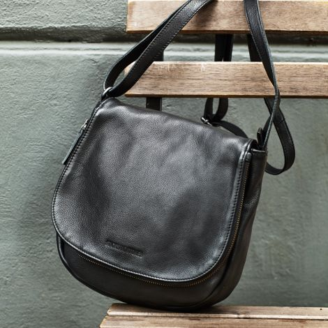 Sticks and Stones Ledertasche Santiago Black •