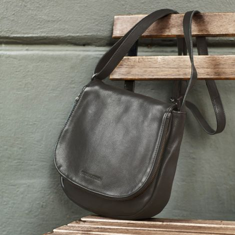 Sticks and Stones Ledertasche Santiago Dark Taupe •