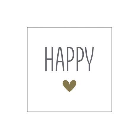 Krasilnikoff Papierserviette Happy