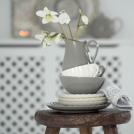 GreenGate Porzellan Schüssel Pastel Warm Grey