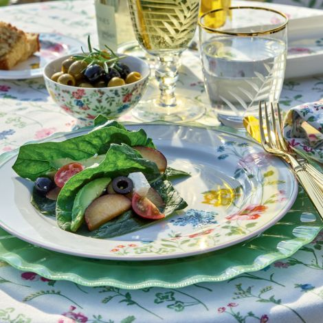 GreenGate Salatschüssel Thilde White