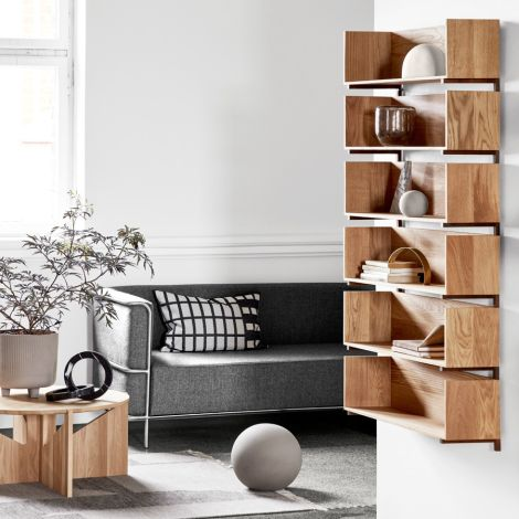 Kristina Dam Studio Modernist Sofa 3-Sitzer Grey Wool