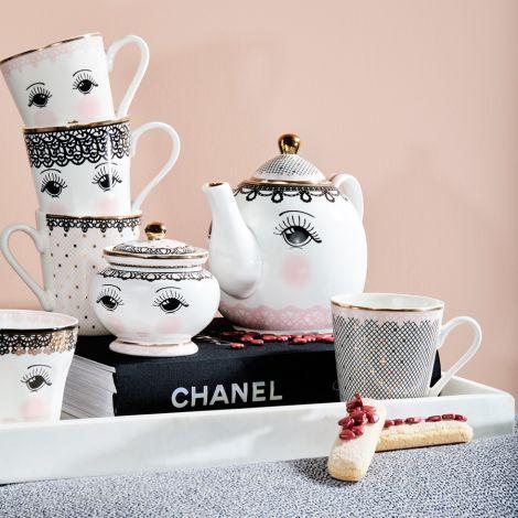 Miss Étoile Teekanne mit Tasse Tea for one