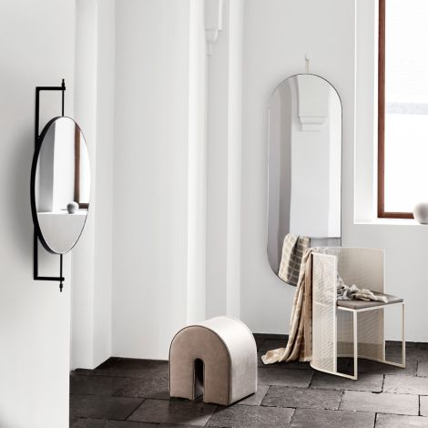 Kristina Dam Studio Spiegel drehbar Full Size Beige