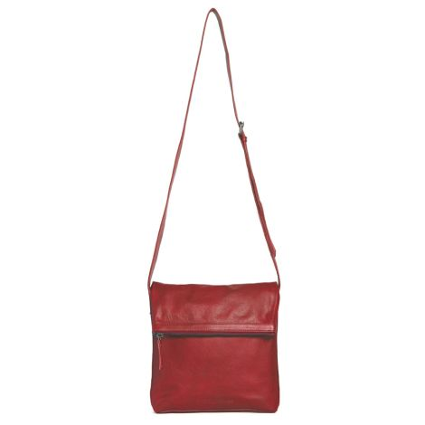 Sticks and Stones Ledertasche Strasbourg Cherry Red Washed •