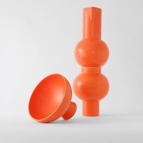 raawii Vase Strøm 24 cm Vibrant Orange