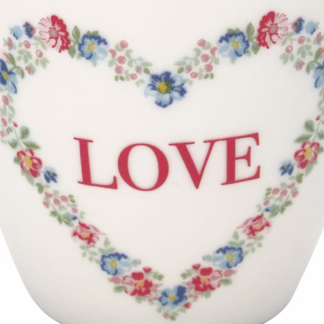 GreenGate Latte Cup Becher Heart Love White