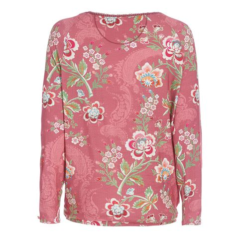 PIP Studio Langarm-Shirt Teddy Le Bois Fleuri Dry Rose